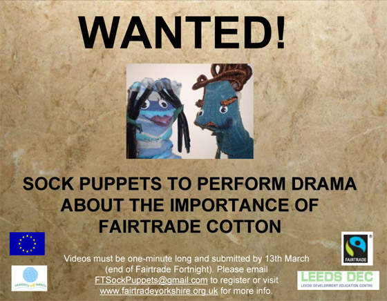 Sock Puppet Competition Flyer