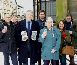 Fairtrade Harrogate supporters with Andrew Jones MP, celebrating the declaration of Yorkshire Fairtrade Region earlier this year.