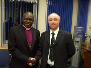Mark Dawson (right) with the Archbishop of York