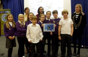 Carleton Primary School receive their Fairtrade in Yorkshire School Award.