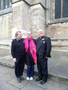 Church Warden, Clive House, Development Officer,Louise O'Brien and Vicar, Rev Paul Shackerley.