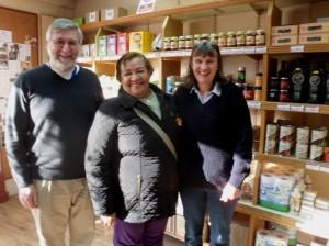 Aimeth (centre) with Ian and Judy at Fair Grounds.