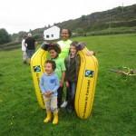 Filming for the Tour de Fairtrade Yorkshire film
