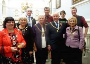 Civic leaders and Fairtrade supporters at the Beverley Guildhall