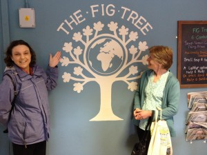 Sue from York and Ruth from Lancaster at the Fig Tree visitor centre.