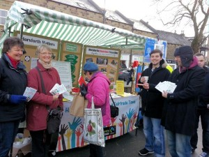 Horsforth campaign group at the Farmers' Market