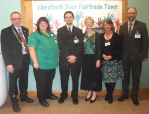 Chair of the Town Council, John Garvani and the Steering Group
