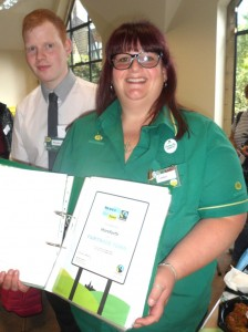 Matthew Temple, Duty Manager and Sarah Marston, Community Champion of Horsforth Morrisons.