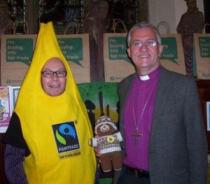 Peter at Batley Church with the Bishop of Huddersfield