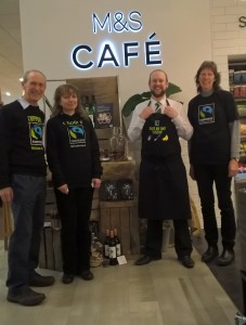 Chris Farren with Karen, Anna and Mike at Fairtrade  Display